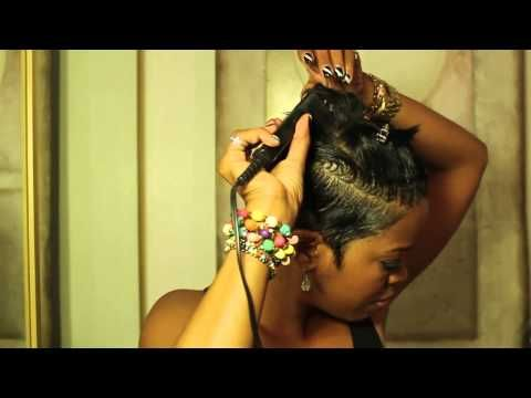 Malinda Williams' Mane Taming #8: Sexy Summer Slick Back Look – YouTube