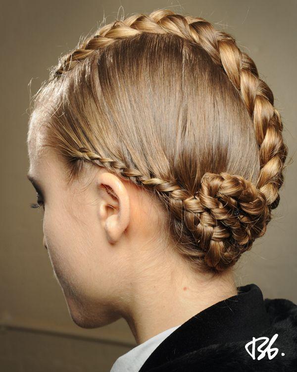 Fall/Winter Fashion Week. Hair by Bb. Stylist James Pecis. #fashionweek #fashion #hair #bumbleandbumble #style #braids