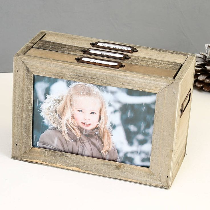 wooden photo storage box by dibor | notonthehighstreet.com