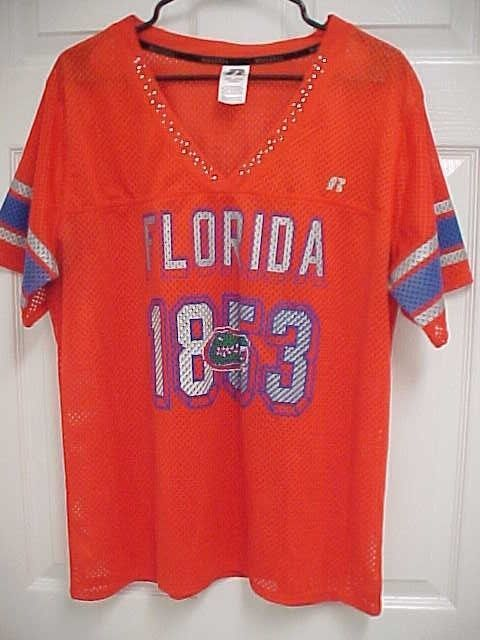 reputable site 673bb 18568 FLORIDA GATORS 1853 NCAA Women Orange Mesh Football Jersey 2XL Russell New   RussellAthletic  FloridaGators