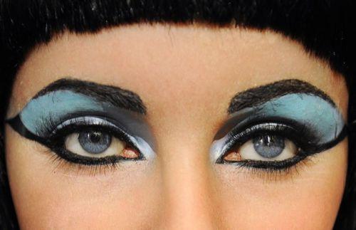 Elizabeth Taylor's Cleopatra eyes.