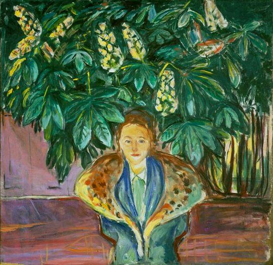 Edvard Munch (1863-1944), Under the Chestnut Tree, 1937, oil on canvas, 116.5 x…