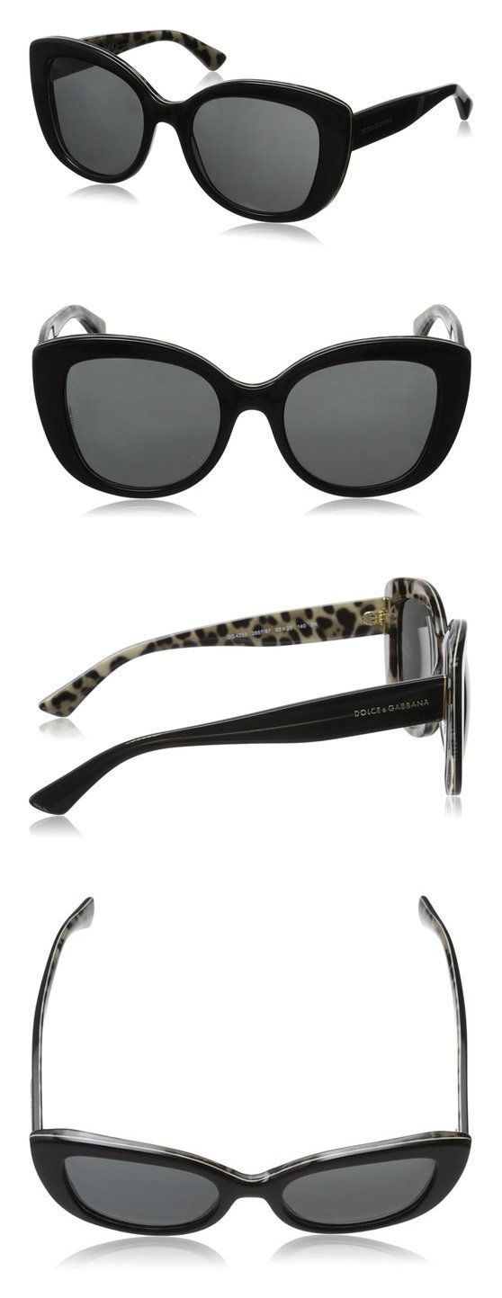 $104.4 - D&G Dolce & Gabbana Women's Enchanted Beauties Cat-Eye Sunglasses Black Grey #dolceegabbana