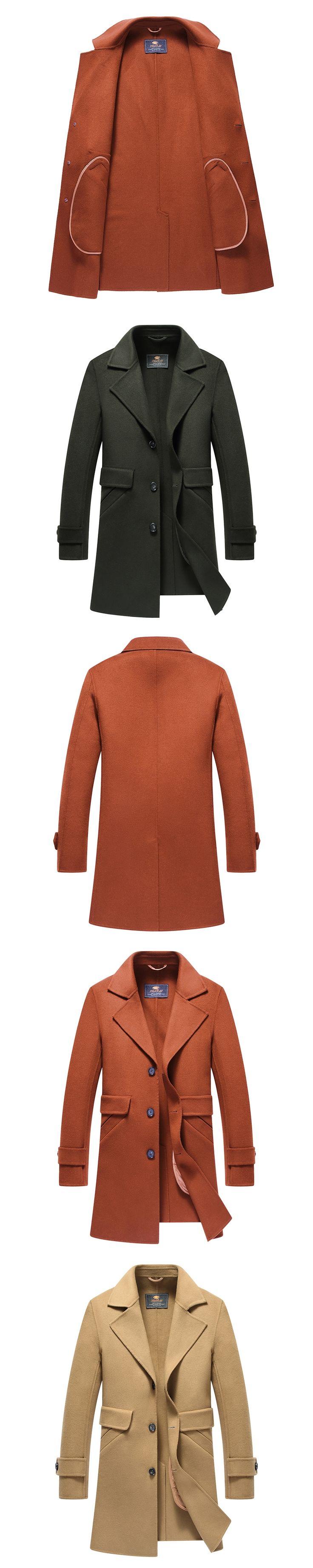 2017 Autumn And Winter Wool Coat Men Long Coat Slim fit Mens Cashmere Coat Youth New Fashtion Overcoat Men Wool Coat