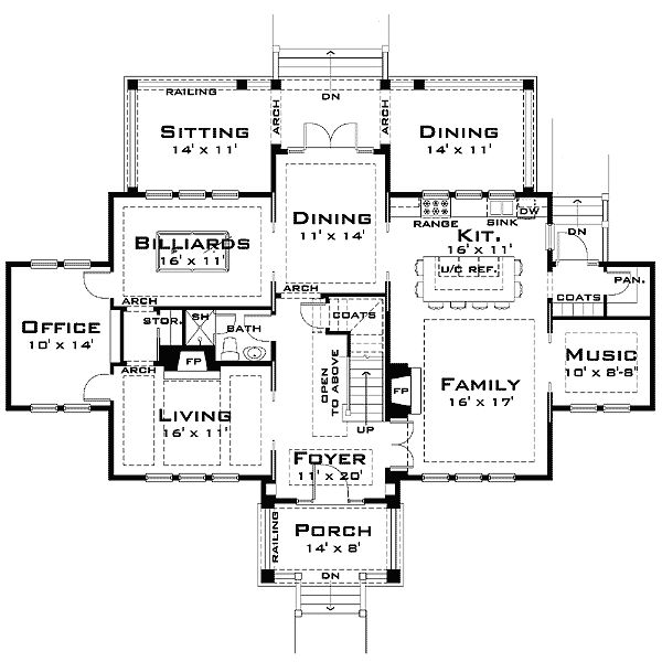 5d459c7291adb21c5f49887f6b51d79f castle house plans beach house plans 84 best house plans images on pinterest,House Plans For Big Families