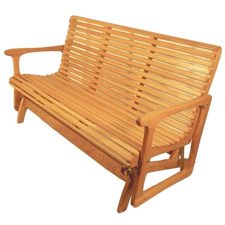 Sittin Easy Classic Indoor Outdoor Oak Glider Bench - 53G