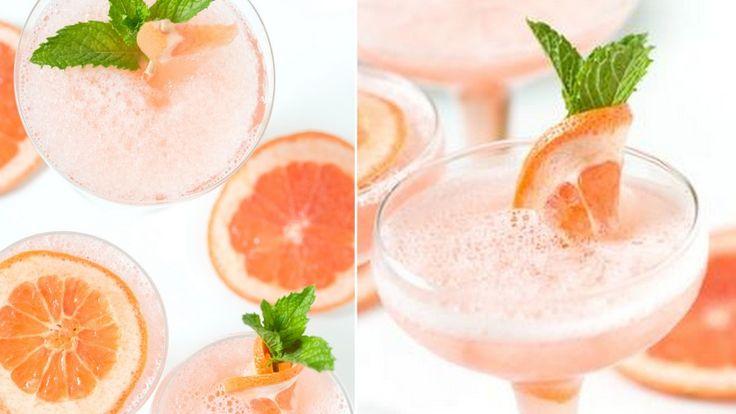 Recept: Frozen cocktail med mousserande rosévin och grapefrukt