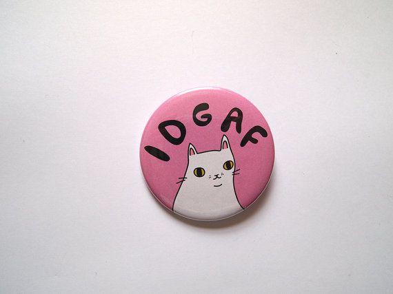 Cat badge  Cute cat badge  White cat  I like cats by ilikeCATSshop