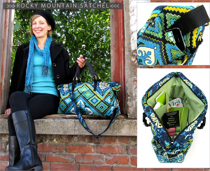 Rocky Mountain Satchel free tutorial! What a great looking bag!