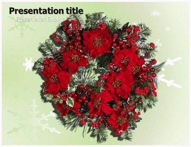 Christmas Flower Powerpoint Template