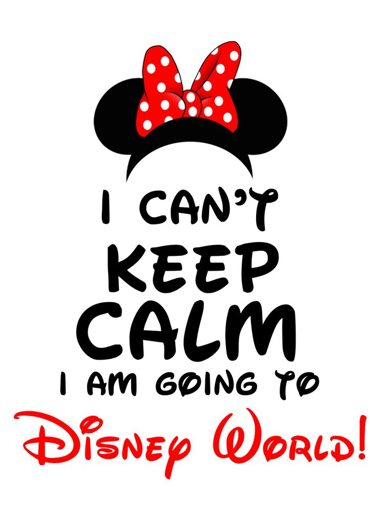 I Can't Keep Calm I'm Going to Disney World! Minnie Mouse - partyexpressinvitations
