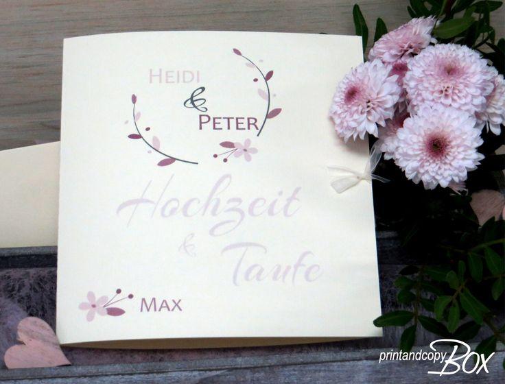 Einladung Zur Hochzeit Und Taufe Im Vintage Stil