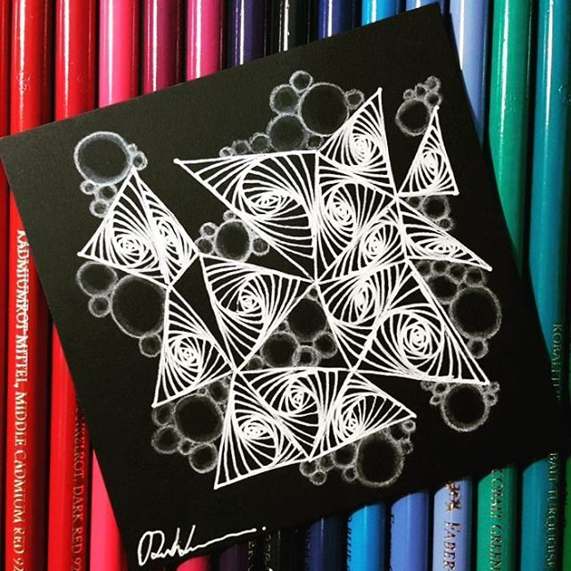 Zentangle - 120616. Like Paradox recently~  Artwork from Rebecca Kuan - #rebeccasecretbox  Welcome to visit my FB Page:  http://www.facebook.com/Rebecca.Zentanglebox/  #zentangle #zendoodle #doodle #doodleart #drawing #draw #tangle #art #artwork #zentangleart #zentangleinspiration #learnzentangle #zenart #hearttangles #blackandwhite #paradox