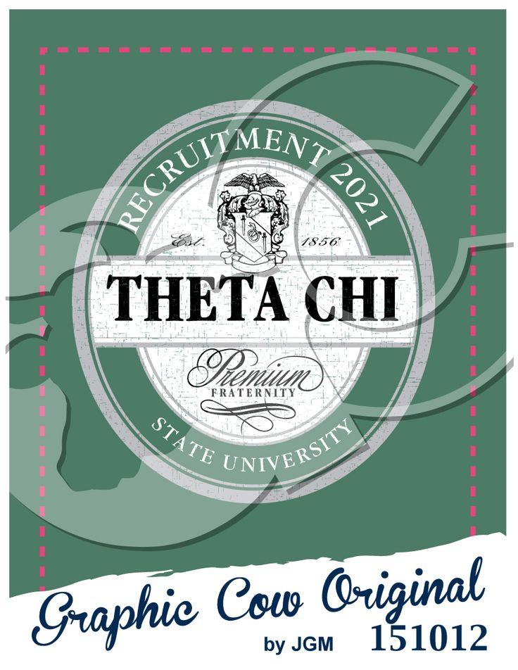 Theta Chi Greek crest recruitment oval label #grafcow