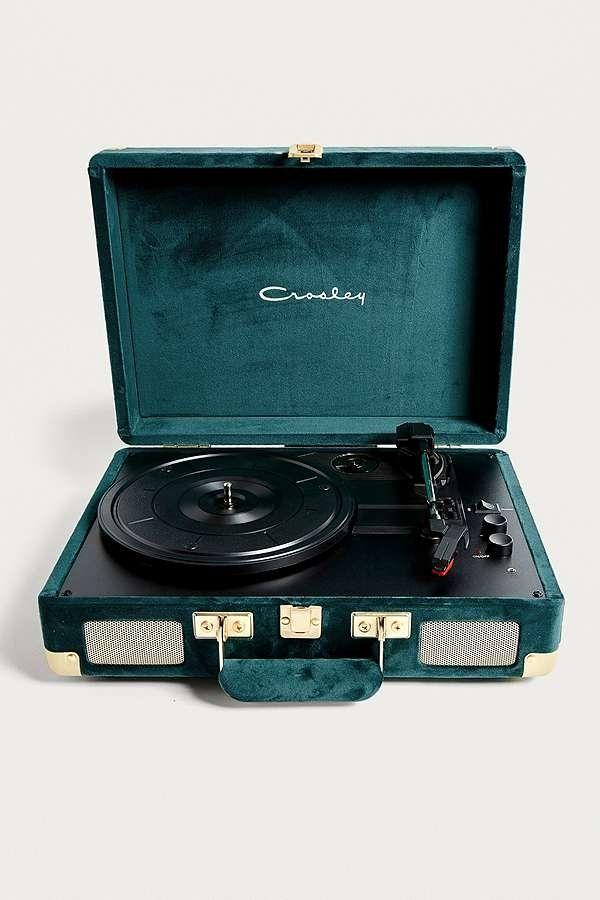 Crosley X Uo Emerald Velvet Cruiser Bluetooth Vinyl Record Player Discos De Vinilo Decoracion De Unas Vinilos
