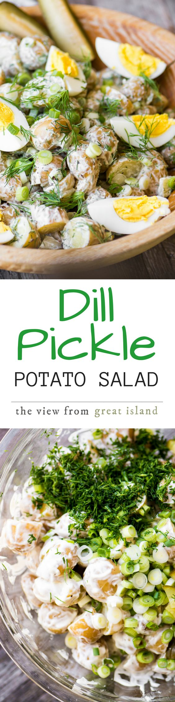 Dill Pickle Potato Salad ~ this creamy potato salad packed with pickles will become your favorite summer side, perfect for barbecues, picnics, and potlucks!
