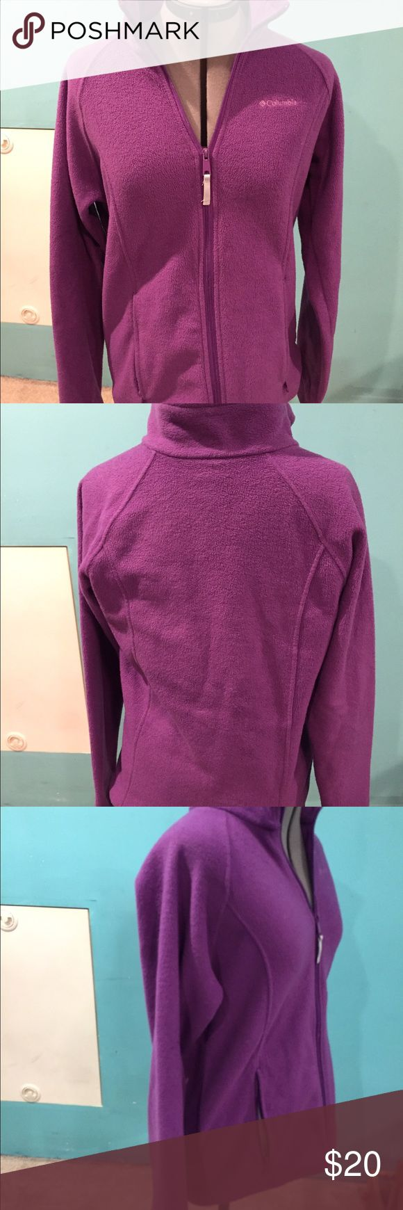 Women's purple Columbia jacket XL. Great condition This jacket is purple, zips up the front, it is soft and cozy size XL. See pictures. Used and in Great condition. Columbia Jackets & Coats Utility Jackets