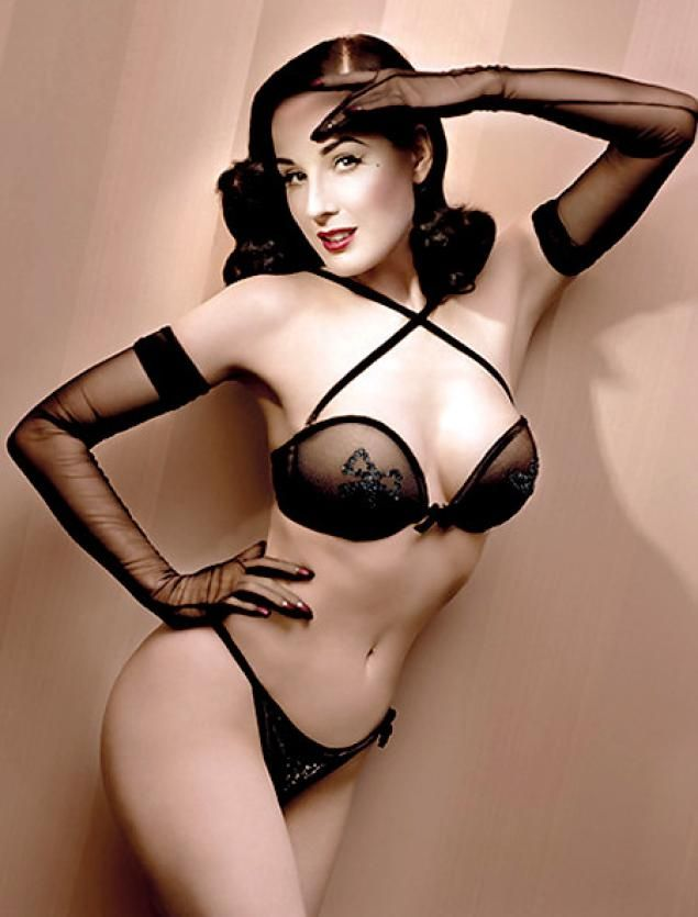 Dita Von Teese models her new collection for Wonderbra.