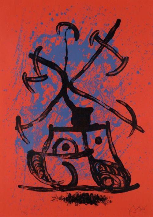 Joan Miró L'entraineuse rouge