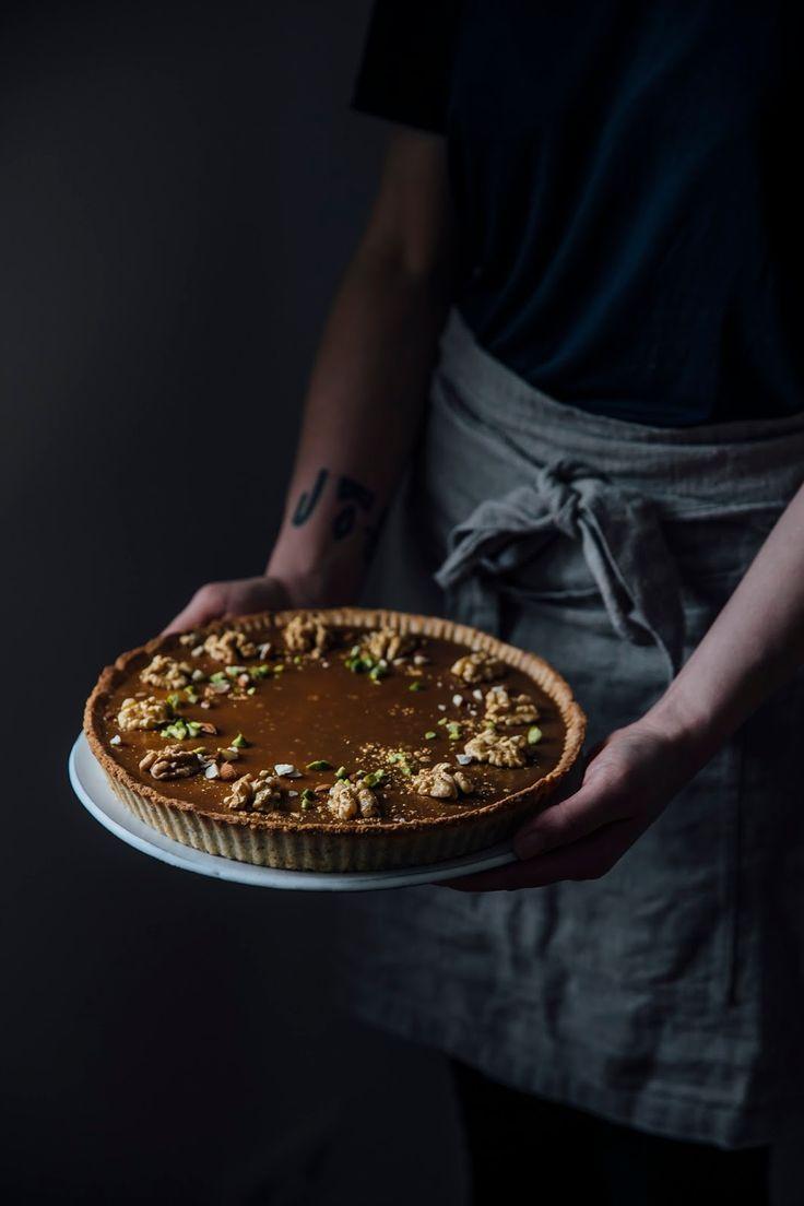 glutenfree quince-caramel christmas tart recipe