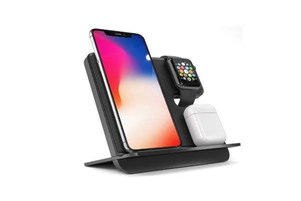 Icombostand Qi Wireless Charging Station For Iphone Apple Watch And Airpods Gadgetsin Apple Watch Charger Apple Watch Apple