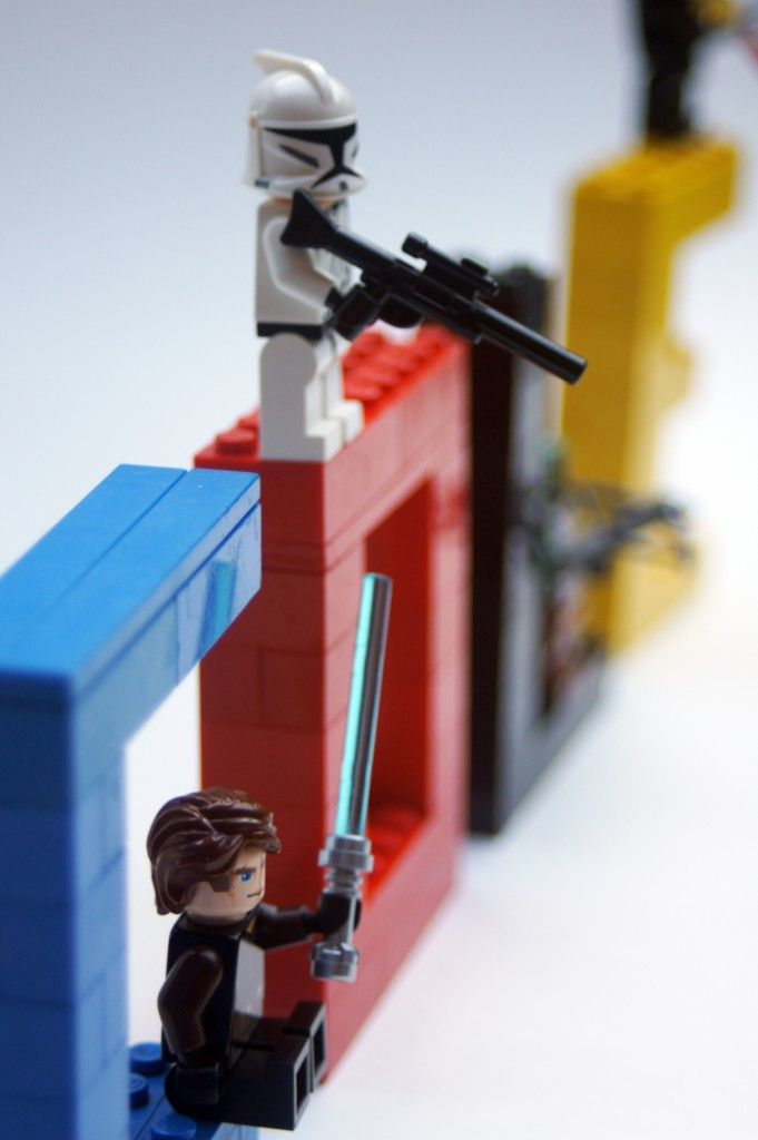 Very Cool, will need to get the lego husband on this job...birthday boy's name in Lego with characters