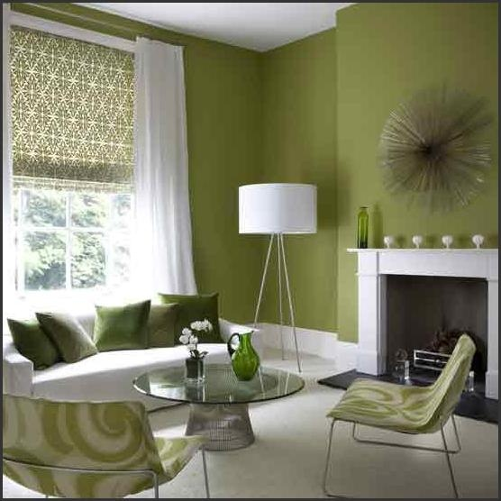 Green Color Home Interior Living Room Design And Decoration Ideas Part 49