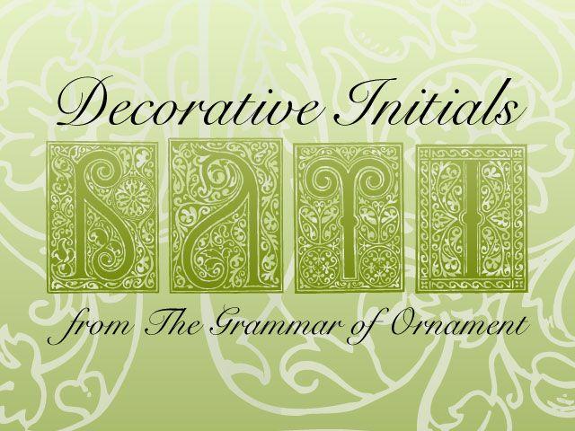 Decorative Initials Vectors by remittancegirl