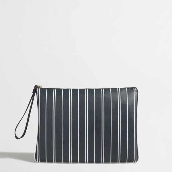 J.Crew Factory zipper pouch ($25) ❤ liked on Polyvore featuring bags, handbags, clutches, j.crew, j. crew clutches, j crew handbag, j crew purse and pvc purse