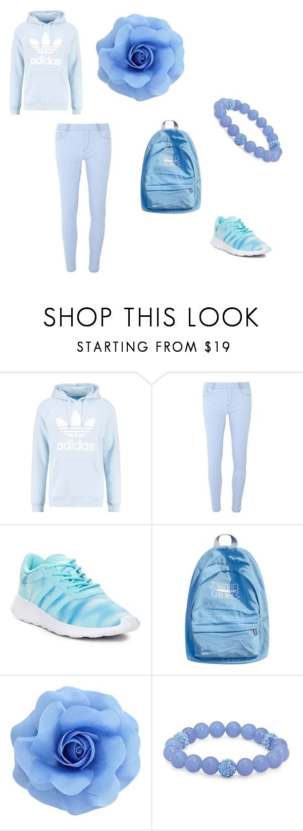 """""""school day"""" by dzemila-852 ❤ liked on Polyvore featuring adidas Originals, Dorothy Perkins, adidas, WithChic, Palm Beach Jewelry, men's fashion and menswear"""