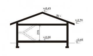 Sectiune verticala inltimi casa