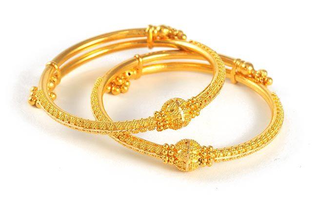 22Kt Indian Baby Gold | Baby Bangles (22kt Gold) - BjBa4100 - 22kt Gold Indian Baby Bangles ...