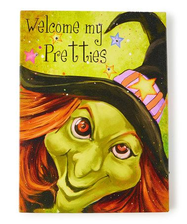 Look what I found on #zulily! Witch Face Light-Up Wrapped Canvas #zulilyfinds