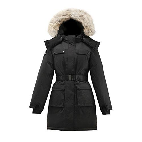The full length Arkona women's parka provides additional coverage, and features an elastic belt with metallic closure. THE FABRIC The outer layer of the goose down arctic jacket features a performance 10,000 mm water-resistant fabrication that's durable, water-repellent, lightweight...  More details at https://jackets-lovers.bestselleroutlets.com/ladies-coats-jackets-vests/down-parkas/down-down-alternative-down-parkas/product-review-for-triple-f-a-t-goose-arkona-w