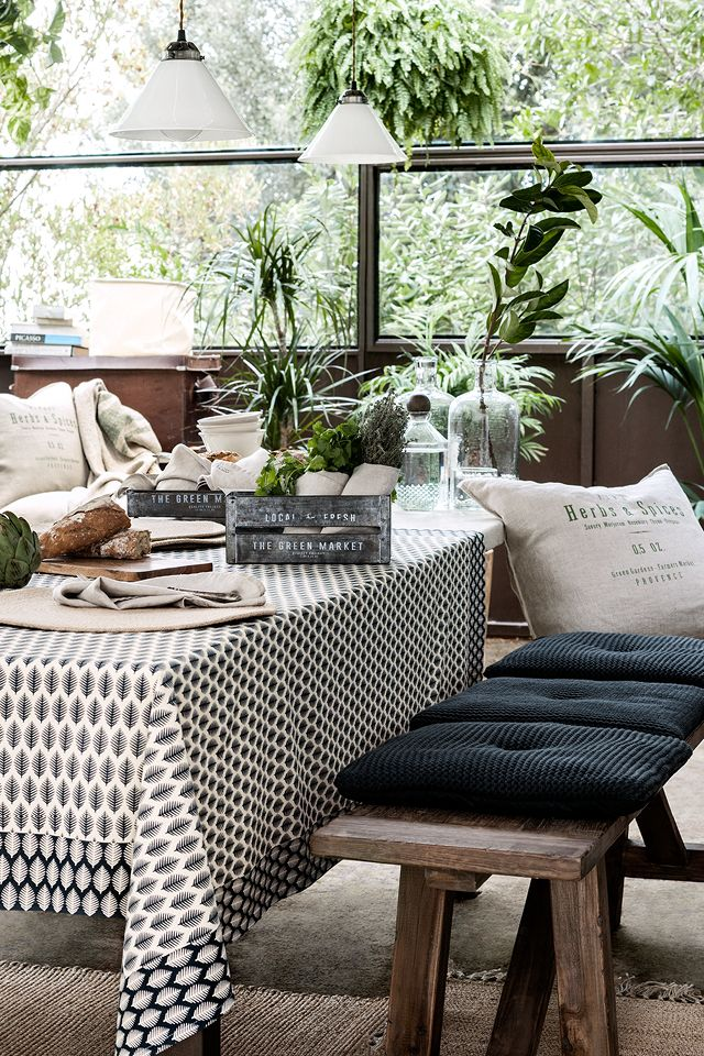 This season's trending interior look takes inspiration from nature and adds a sense of sophisticated style to any room. | H&M Home