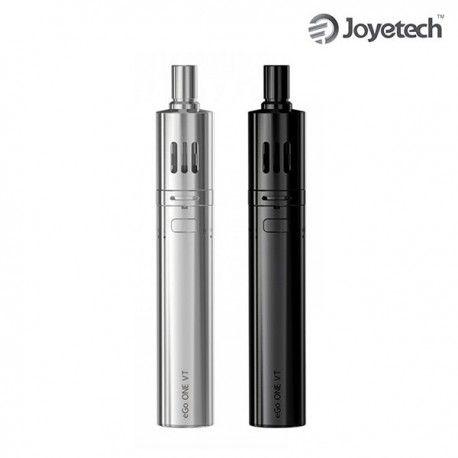 eGo One VT est un kit e-cigarette haut de gamme de marque Joyetech. Le kit eGo One VT 2300 mAh offre un contrôle de température simplifié pour une prise en main rapide et un grand confort de vape. La cigarette électronique eGo One VT est composée d'une batterie eGo One VT 2300 mAh et d'un clearomiseur Ego One Mega 4ml. Il est fourni avec 3 résistances et tous les accessoires pour la recharge.