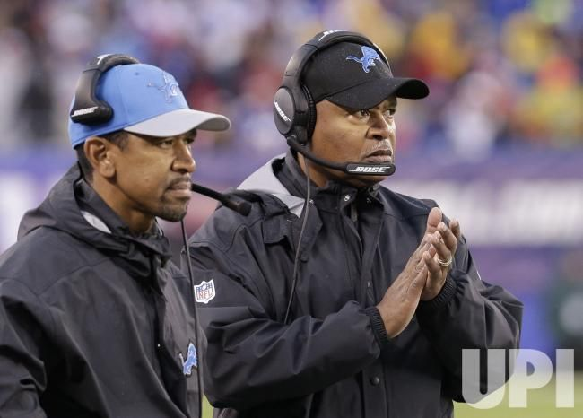 Detroit Lions head coach Jim Caldwell stands on the sidelines in the second half against the New York Giants in week 15 of the NFL at…