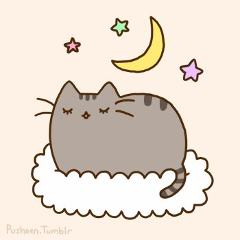Pusheen the Cat taking a nap. what I wish I was doing right now.