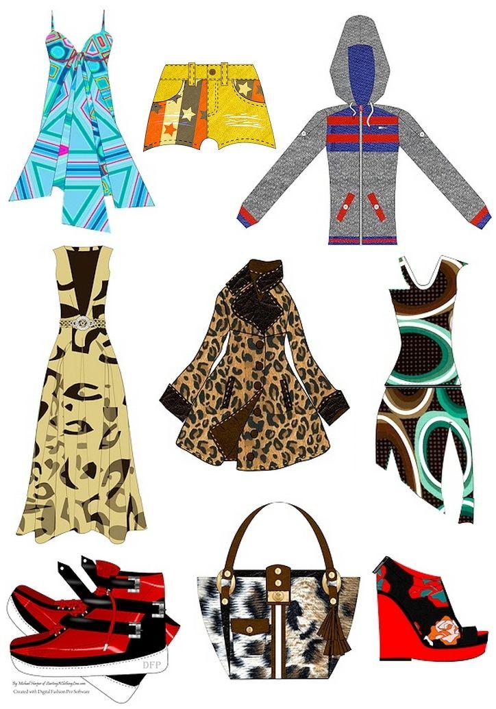 Digital Fashion Pro Software Design Sketches created with Digital Fashion Pro - 4