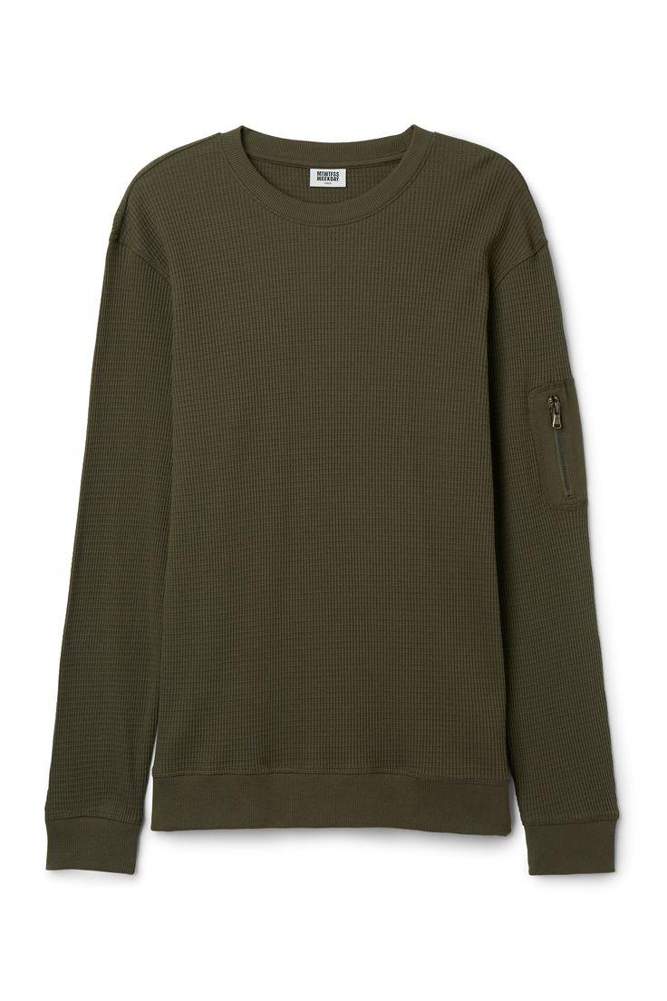 Cody Structure Sweatshirt in Khaki Green