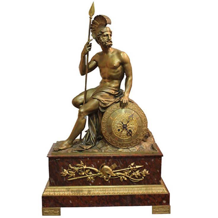 1stdibs | A 19th Century Italian Empire Neoclassical Bronze Ormolu and Rosso Antico Marble