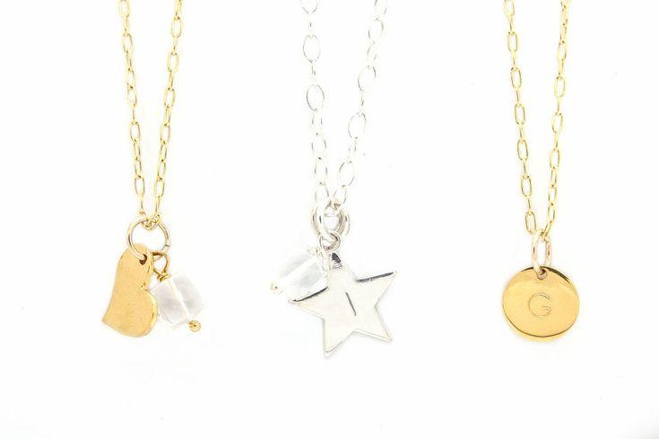 April Birthstone Necklace, Quartz Necklace, Birthstone Gold Necklace, Personalized Disc Necklace, Dainty Birthstone Necklace, Gift, Women by ILgemstones on Etsy