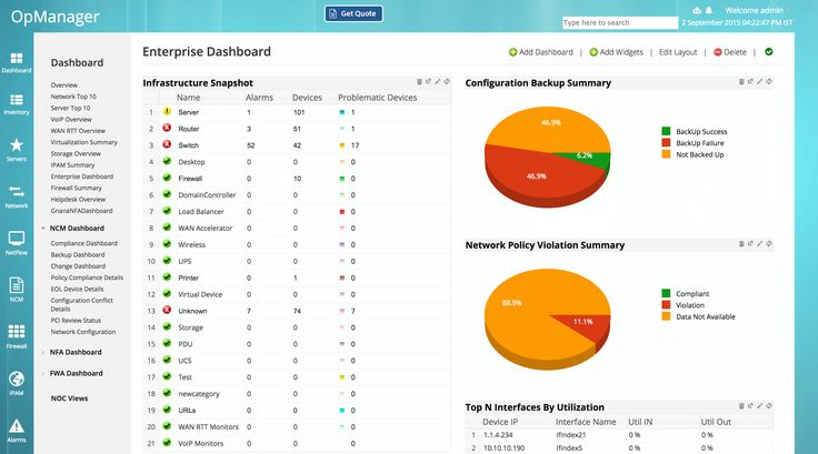 View overall heath of your network: You'll get an alert about server performance issues relating to CPU, disk, memory, or #network connectivity. Get in front of issues before your #servers become slow, choppy, or inaccessible when you receive threshold-based email alerts fine-tuned for common #IT concerns. You can also customize thresholds by device and resource — for example, raising limits on a #SQL server where high memory utilization is expected.