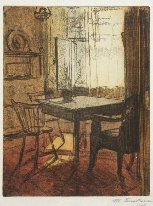 Magnus Enckell (Finnish, 1870-1925) - Interior, 1905