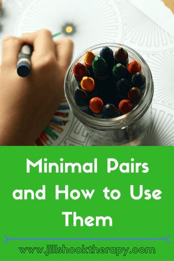 How to use Minimal Pair activities in Speech Therapy with links