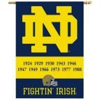 Ncaa 28 in. x 40 in. Notre Dame Champ Years 2-Sided Banner with Pole Sleeve
