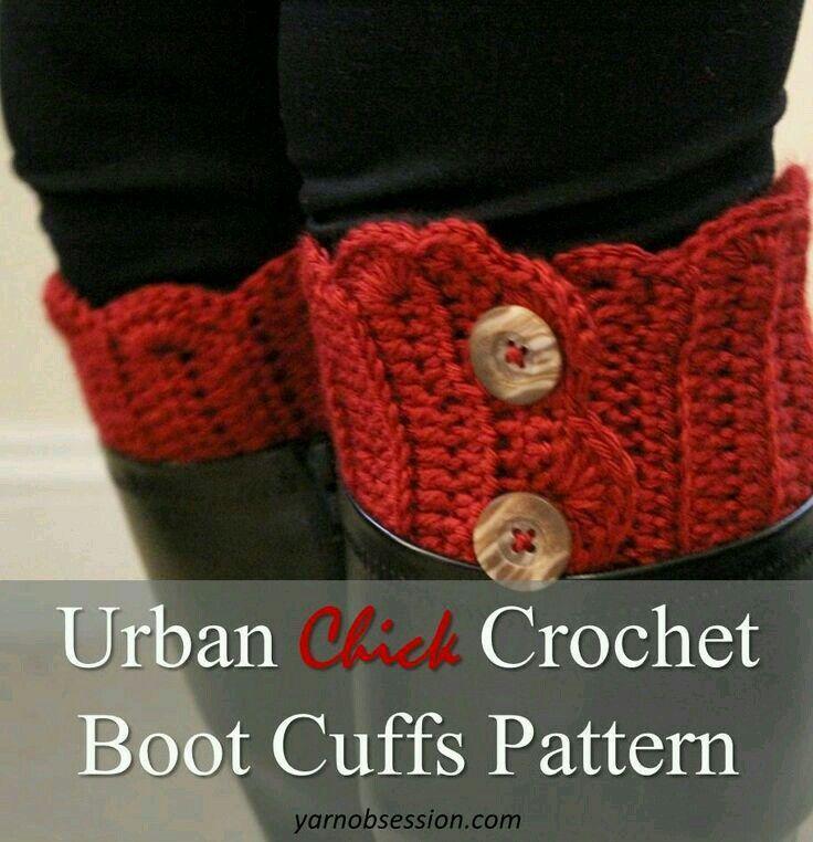 414 Best Boot Cuffs Love Images On Pinterest Crochet Boot Cuffs