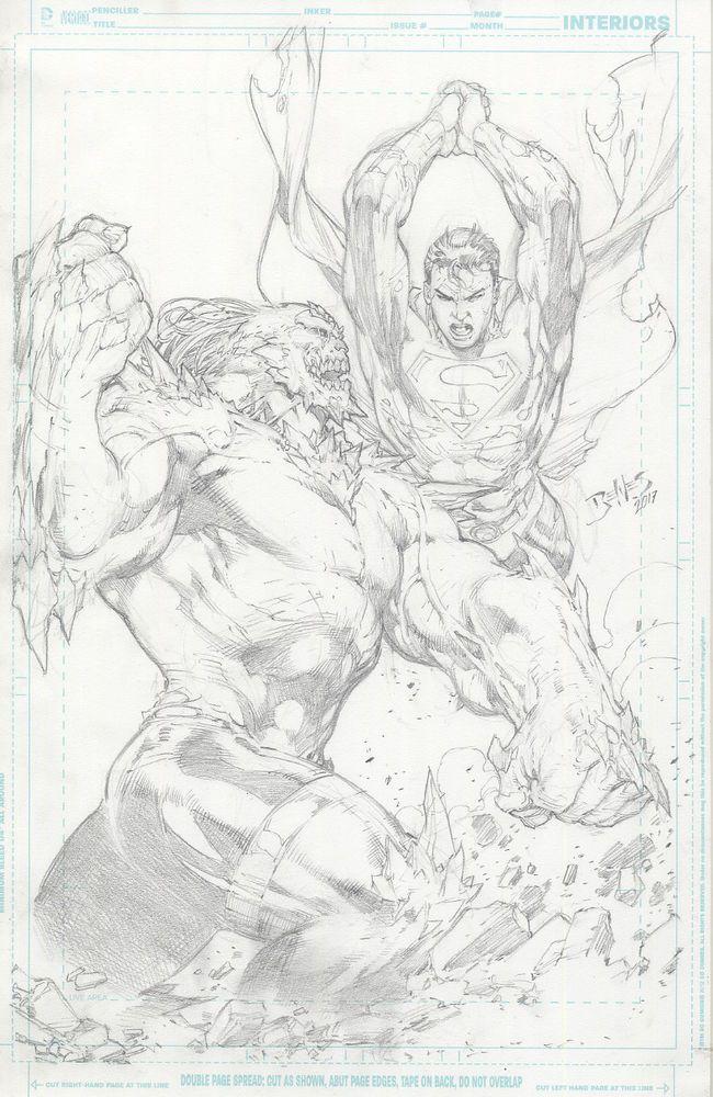 Superman Vs Doomsday By Ed Benes Comic Art Fans Comics Artwork Superhero Coloring Pages