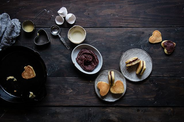 red bean & almond dorayaki | two red bowls by Two Red Bowls, via Flickr