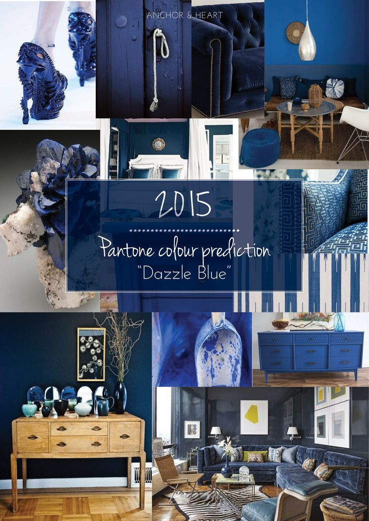 """Anchor & Heart's 2015 Pantone colour of the year prediction. We think """"Dazzle Blue"""" or one of it's close counterparts will be the next years favourite. #trend #pantone #interiors #design #homewares #blue #dazzleblue #furniture #walls #paint"""